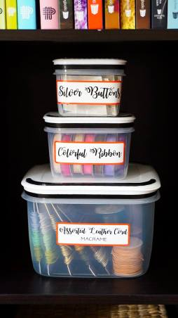 These labels work well with just about any size of container, from large to small!