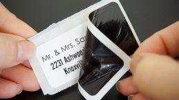 #1022D, white address sized labels